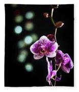Exotic Orchid 2 Fleece Blanket