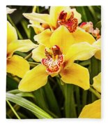 Exotic Orchids  Fleece Blanket