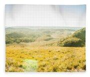 Expansive Open Plains Fleece Blanket