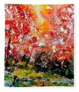 Exploding Nature Fleece Blanket
