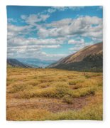 Exploring Guanella Pass Fleece Blanket