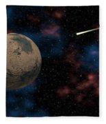 Exploring Planet Mars Fleece Blanket