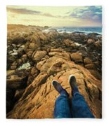 Exploring The Beaches Of Western Tasmania Fleece Blanket