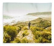 Exploring The West Coast Of Tasmania Fleece Blanket