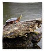 Exploring Turtle Fleece Blanket