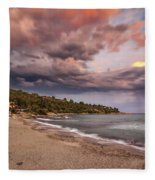 Explosion Of Colored Clouds Fleece Blanket