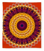 Expression No. 7 Mandala Fleece Blanket
