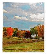 Expressionalism Autumn Farm Fleece Blanket