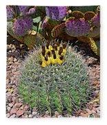 Expressionalism Budding Cactus Fleece Blanket