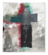 Expressionist Cross 4- Art By Linda Woods Fleece Blanket
