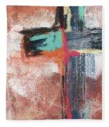Expressionist Cross 5- Art By Linda Woods Fleece Blanket