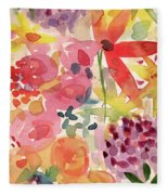 Expressionist Fall Garden- Art By Linda Woods Fleece Blanket