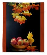Expression Of Yellow Leaves. Fleece Blanket