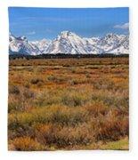 Extended Willow Flats Panorama Fleece Blanket