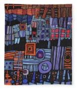Exterior Facade Fleece Blanket