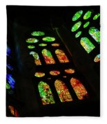 Exuberant Stained Glass Windows Fleece Blanket