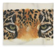 Jaguar Gaze Fleece Blanket