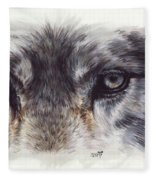 Eye-catching Wolf Fleece Blanket