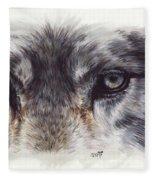 Eye-catching Wolf Fleece Blanket