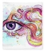 Eye Fish Surreal Betta Fleece Blanket
