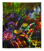 Eye In Chaos Fleece Blanket