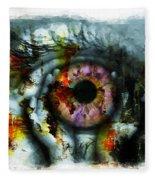 Eye In Hands 001 Fleece Blanket