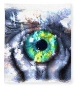 Eye In Hands 002 Fleece Blanket