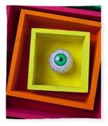 Eye In The Box Fleece Blanket