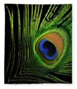 Eye Of A Peafowl Fleece Blanket