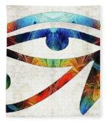 Eye Of Horus - By Sharon Cummings Fleece Blanket