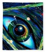 Eye Of Immortal Eternity. Timeless Space 2 Fleece Blanket