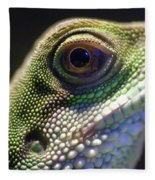 Eye Of Lizard Fleece Blanket