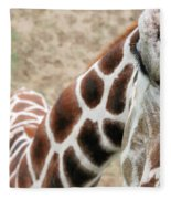 Eye Of The Giraffe. Fleece Blanket