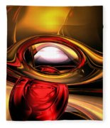 Eye Of The Gods Abstract Fleece Blanket