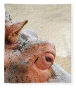 Eye Of The Hippo Fleece Blanket