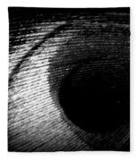 Eye Of The Peacock Feather Fleece Blanket