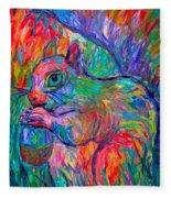 Eye Of The Squirrel Fleece Blanket