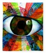 Eye To The Soul Fleece Blanket