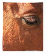 Eyelashes - Horse Close Up Fleece Blanket