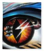 Eyes Of Immortal Soul Fleece Blanket