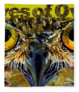 Eyes Of Owls 18 Shirt Fleece Blanket