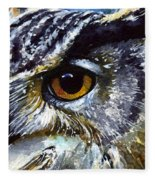 Eyes Of Owls No.25 Fleece Blanket