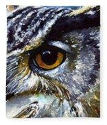 Eyes Of Owls No.25 Fleece Blanket