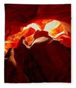 Eyes Of The Canyon Fleece Blanket