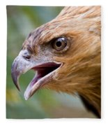 Eyes Of The Hunter Fleece Blanket