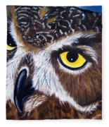 Eyes Of Wisdom Fleece Blanket