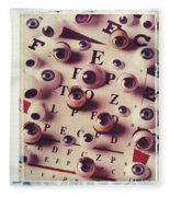 Eyes On Eye Chart Fleece Blanket