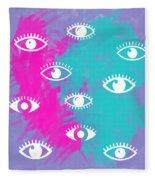 Eyes, The Look Fleece Blanket