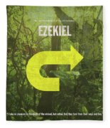 Ezekiel Books Of The Bible Series Old Testament Minimal Poster Art Number 26 Fleece Blanket