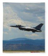 F-16 Tower Fleece Blanket